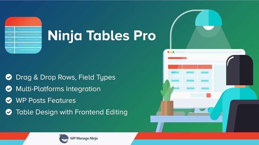 Ninja Tables – The Easiest Most Advanced Modern Table Builder Plugin For WordPress