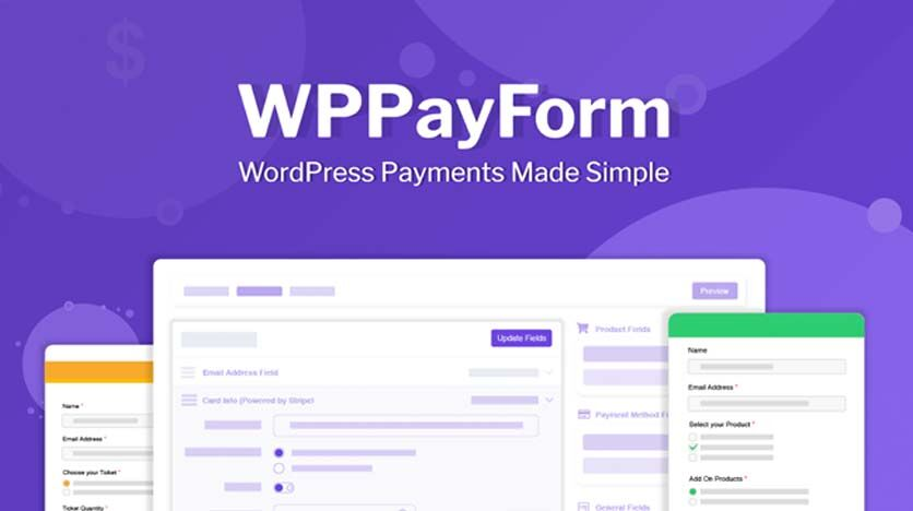 WP PayForm Pro – Simple Drag-And-Drop Payment Processing Form Builder